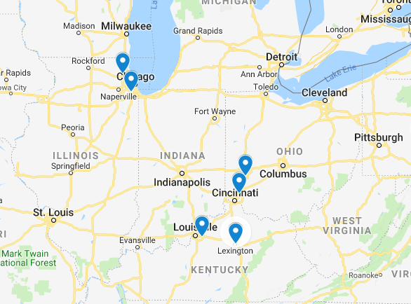 Gilkey Window Company Location Map