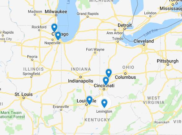 Gilkey Window Company Location Map
